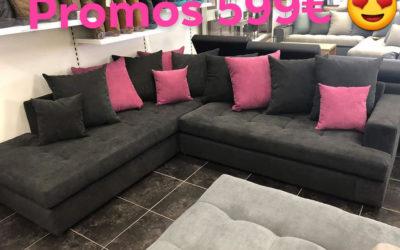 Super Promos, Salon Larry déhoussable pour seulement 599€ (grand  modelé)